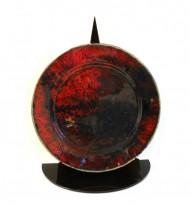 Red ceramic plate