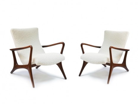 Pair of Contour armchairs