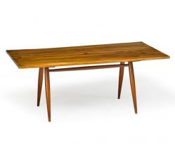 Free edge Turned-leg table