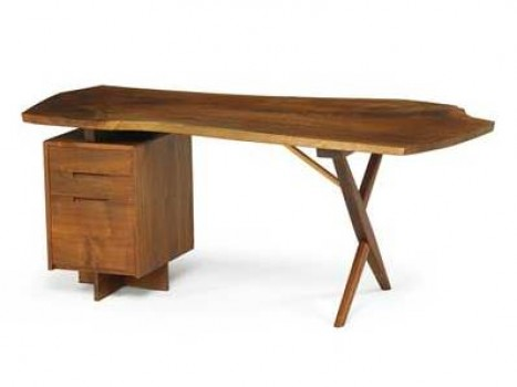 Free edge X-legged desk