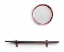 Miroir circulaire & étagère
