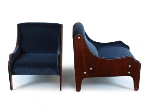 Pair of Milord armchairs