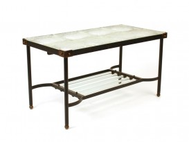 Glass top low table