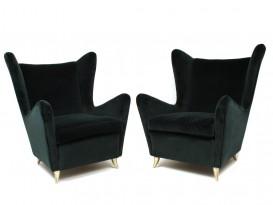 Pair of velvet armchairs