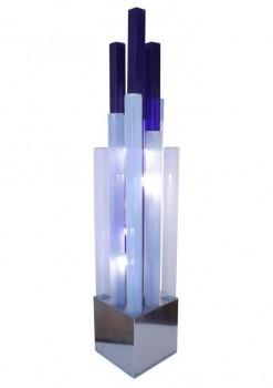 Spectaculaire lampe à colonnes des verre