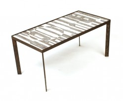 Black and white ceramic low table