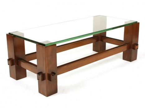 Glass low table, 2461 model