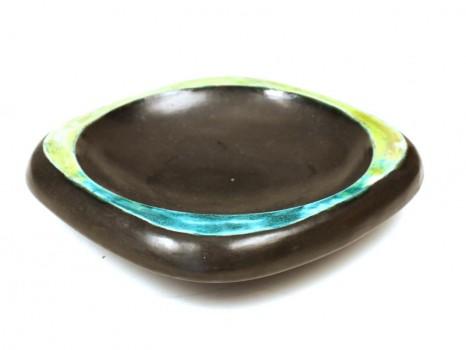 Black ceramic bowl