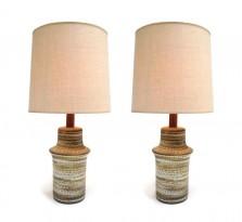 A pair of ceramic lamps
