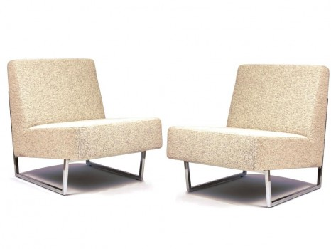 Pair of Courchevel low chairs