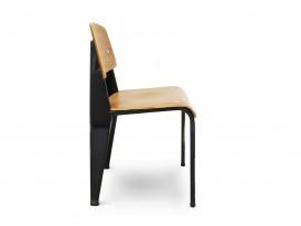Chaise Métropole n°305 noire, dite chaise Standard