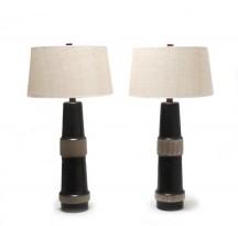Importante paire de lampes