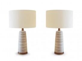 Paire de lampes torsadées