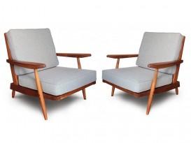 Paire de fauteuils Cushion
