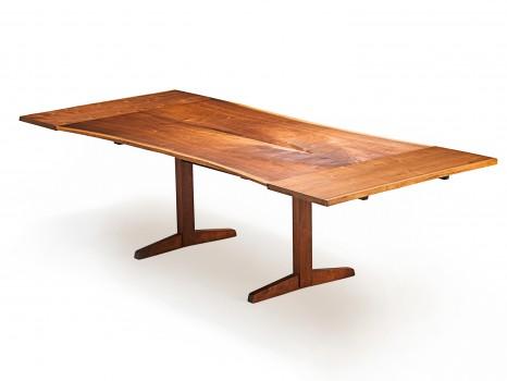 Table Trestle free edge avec allonges