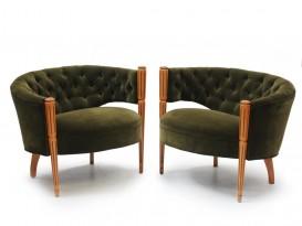 Paire de fauteuils Regency