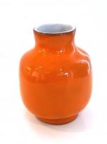 Orange ceramic vase