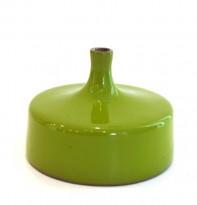Green ceramic vase