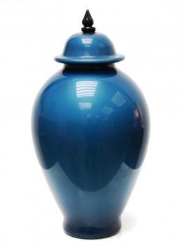 Pot couvert bleu