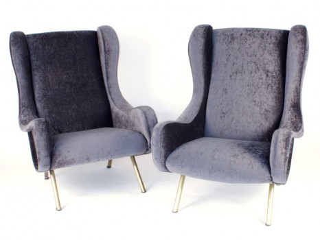 A pair of Senior armchairs