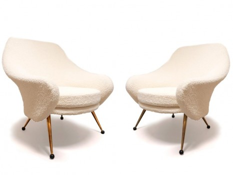 A pair of model Martingale armchairs